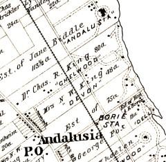 1891 atlas of Andalusia neighborhood