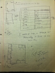 Notes of my measurements of the King library on 7/4/2009.