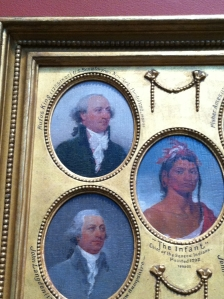King (top image) as painted by John Trumbull.  This is on display in the Yale University Art Gallery.  Photo by author.